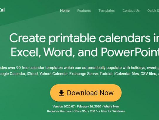 Create printable calendars in Excel, Word, and PowerPoint